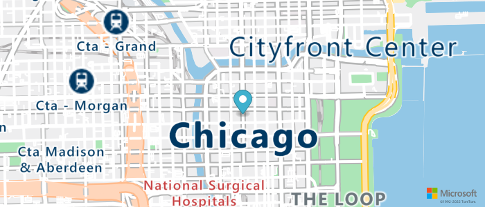 Map of 121 N LaSalle St Chicago, IL 60602